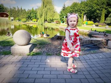 A child on a sunny day - Nikolcia by the pond