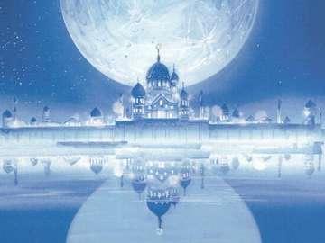 月亮王國 - 過去的銀色千年王國,月亮民族的故鄉,它由Serenity女王統治。 在史前時期