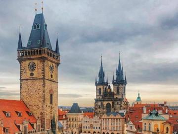 Colorful portrait of Prague, Czech Republic - Colorful portrait of Prague, Czech Republic
