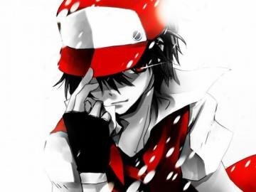 anime red anime - he is an anime pokemon boy