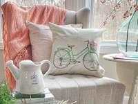 Nábytek květiny křesla polštáře - Nábytek květiny křesla polštáře