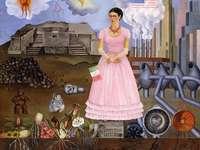 Frida Kahlo - Frida Kahlo - Autorretrato en la frontera entre México y Estados Unidos
