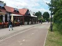 Straße am Strand entlang