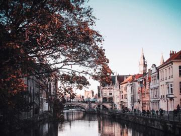 Miasto Gandawa w Belgii - Miasto Gandawa w Belgii. Puzzle krajobrazy