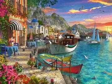 Greek landscape. - Landscape puzzle.