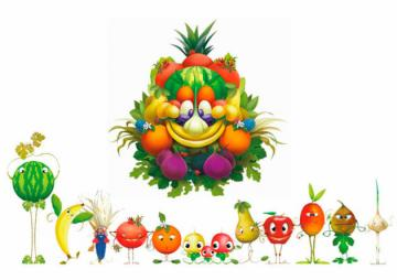 FRUIT FOR CHILDREN - PUZZLE FOR THE CREATION OF AN EXERCISE FOR CHILDREN OF THE PRIMARY SCHOOL FOR HEALTH FOOD