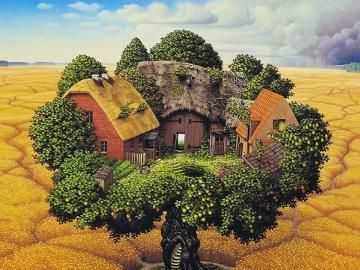 Countryside Farm. - Landscape puzzle.