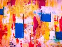 Image d'abstraction colorée - L'art abstrait dans une édition colorée