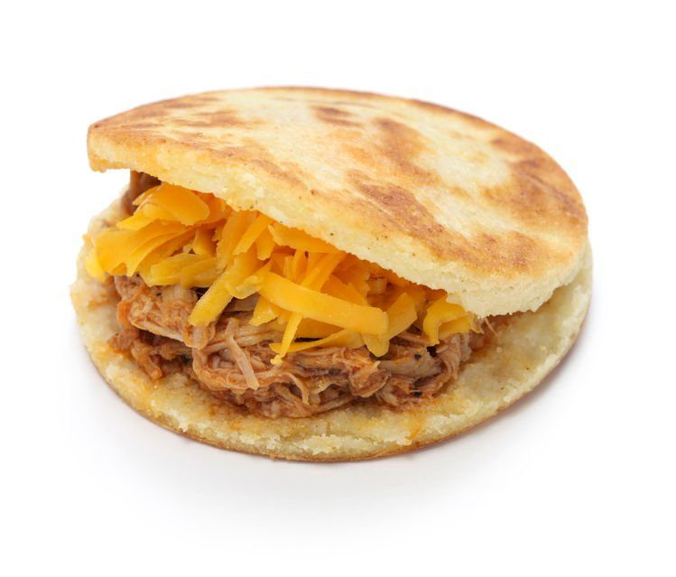 arepa with meat puzzle