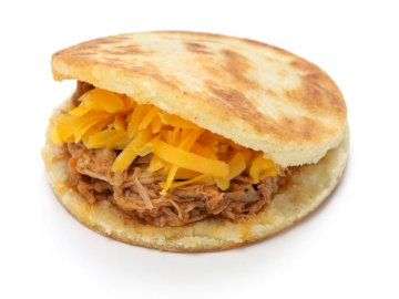 arepa with meat - It is a Colombian food