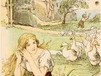 Dívka a husy na pastvě - Dívka a husy na pastvě