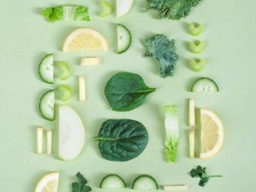 Zielone warzywa - Zielona dekoracja owocowa i warzywna