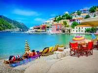 Cefalonia, Grecia - Cefalonia anteriormente Kefalonia, Grecia. Isla griega en el mar Jónico, la más grande de las isla