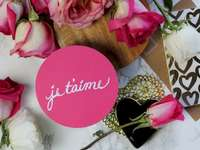 Je t'aime // Lycklig jigsaw puzzle