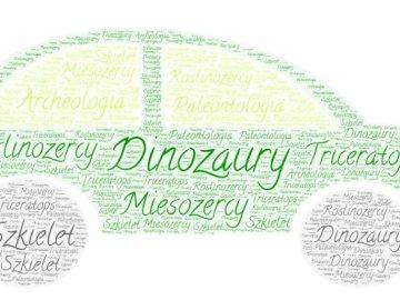 coche con dinosaurio - coche que contiene palabras relacionadas con dinosaurios