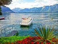 На Женевското езеро.