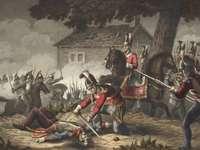Los guardias del caballo en la batalla