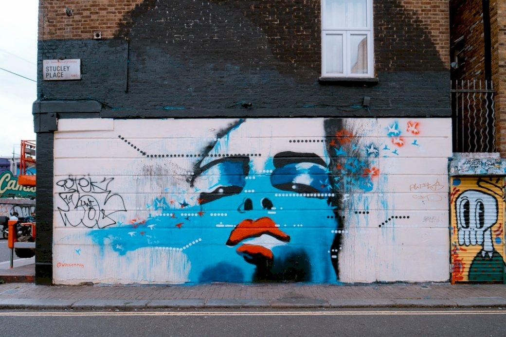En väggmålning i Camden Town pussel