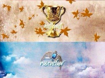 Hogwarts - Es ist ein Bild der Hogwarts-Schule für Hexerei und Zauberei