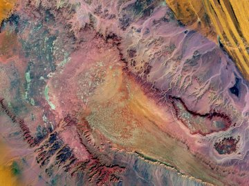 In a remote part of the - Aerial photography of desert in Egypt. United States