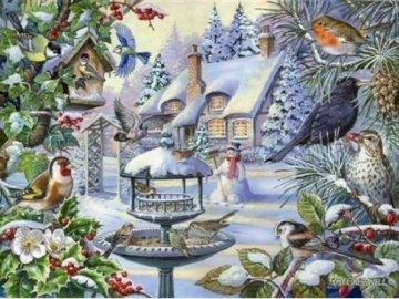 Winter landscape. - Landscape puzzle.