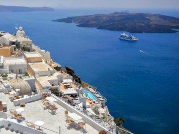 Grèce-Santorin - Grèce-Santorin sur la mer Égée