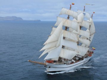 Guayas - Ecuadorian Training Ship - Guayas is a sail training ship of the Ecuadorian Navy. Launched in 1976, it was named in jointly in