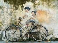 Crianças bicicleta