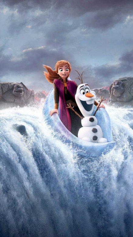 Anna och Olaf flyter och faller från vattenfallet - Hej, du har redan sett frysta 2 ??? För det gör jag och jag försöker leta efter bilder för dig