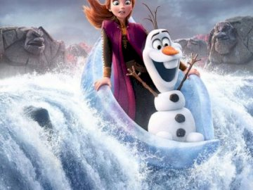 Anna and Olaf flow and fall from the waterfall - Hi you have already watched frozen 2 ???