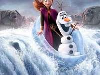 Anna och Olaf flyter och faller från vattenfallet - Γεια, έχετε ήδη δει κατεψυγμένα 2  Επειδή το κάνω και πρ�