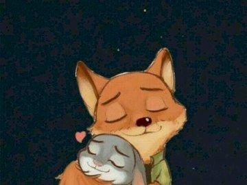 Soprannome di Judy e Fox - Abbracciami perché qualcuno ha preso il mio lavoro, dice Judy e mi abbraccia