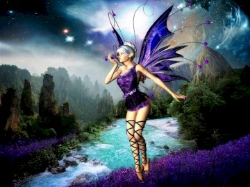Purple fairy of the woods - Purple fairy of the woods
