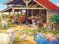 Em uma casa de campo. - Numa casa de campo