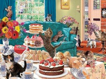 Joyful cats. - Joyful cats