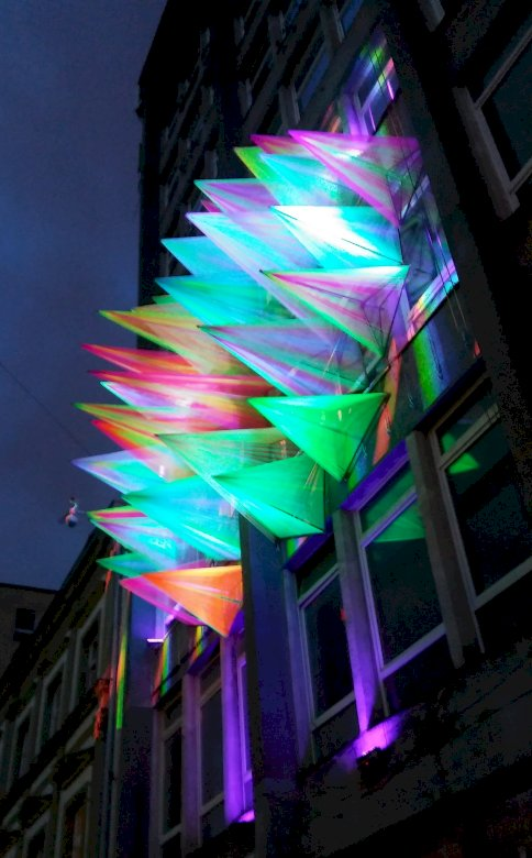 Φεστιβάλ φωτός - εγκατάσταση φωτισμού στην οδό Piotrkowska στο Łódź (12×15)
