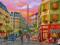 Malowany Paryż. - Układanka: malowany Paryż.