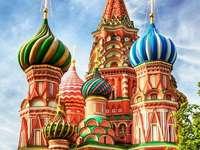 Ορθόδοξη Εκκλησία στη Μόσχα. - Παζλ. Κτίριο. Ορθόδοξοι.