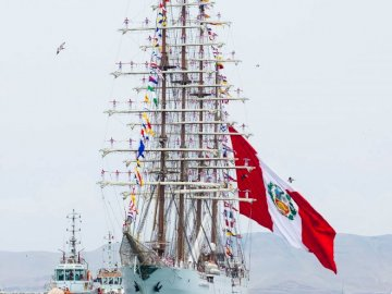 BAP Union - Peruvian Navy Training Ship - BAP Unión is a Peruvian Navy training ship built between 2012–2016 by SIMA shipyard in Callao, Pe