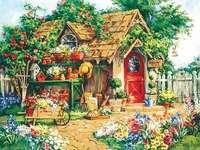 Într-o grădină pictată.