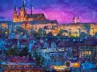 Cidade da noite na imagem