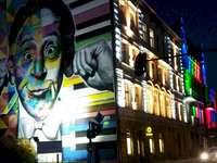 Mural e luz - murais, arte, festival de luz