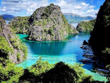Cidade de Coron em Busuanga - Filipinas - Paisagem incrível, Filipinas
