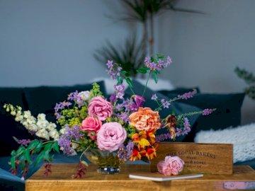 Różowe Kwiaty, Bukiet Kwiatów, - Różnorodność kwiatów. Bicester, Oxon