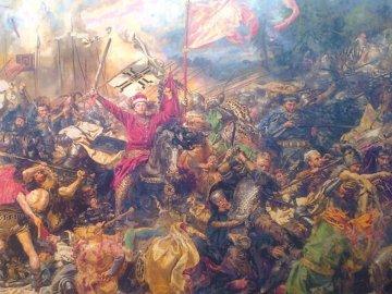 Bataille de Grunwald - fragment de la peinture de Jan Matejko réalisée au point de croix