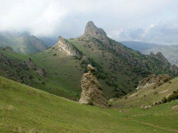 panoramă - Munții Talaban Azerbaidjan