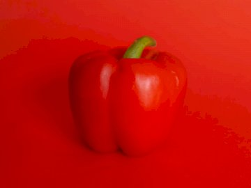 Red, food - Red bell pepper on red surface. Delray Beach, FL