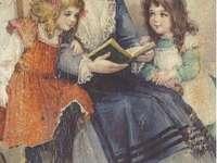 babička čte dětem pohádku