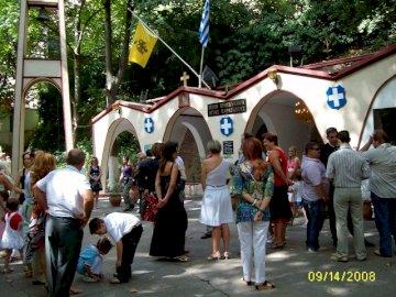 panorama - Sanctuaire-Agia Paraskevi dans les gorges de Tempe