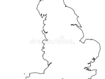 England Konturen - Konturen englischsprachiger Länder